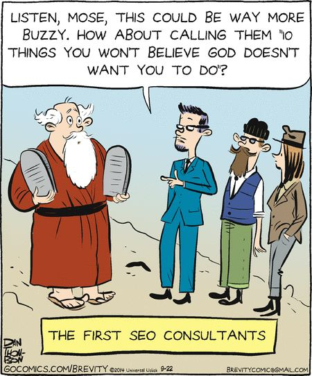 Search Engine Optimizing the ten commandments